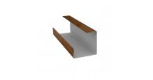 Доборные элементы (Блок-хаус/ЭкоБрус) Grand Line в Казани Планка угла внутреннего составная нижняя